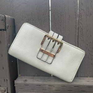 Michael Kors Off White Leather Wallet
